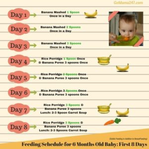 Illustration of Infants Aged 6 Months First Eat And Do Not Have 1 Stool Daily ??