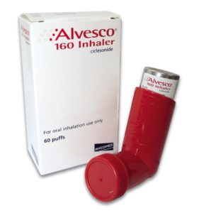 Illustration of Asthma Medication Containing Ciclesonide?