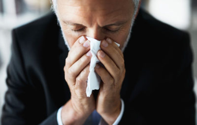 Illustration of Overcoming Sneezing, Runny Nose, Itchy Ears, Accompanied By Sore Throat?