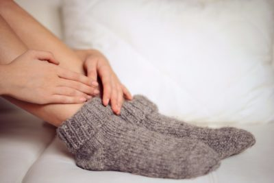 Illustration of The Body Feels Hot But Hands, Cold Feet Accompanied By Low Back Pain To The Feet?