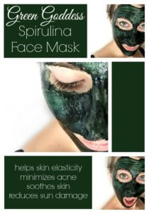 Illustration of Is It Okay To Rinse The Spirulina Mask With Plain Water?