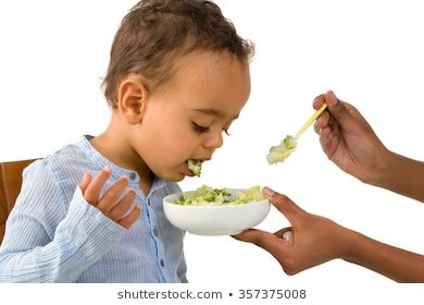 Illustration of Children Spit Out Hot Food