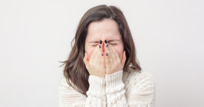 Illustration of The Cause Of Sneezing Accompanied By A Painful Nose