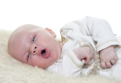 Illustration of Coughing Colds In Infants