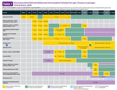Illustration of Regarding The Baby's Age And Immunizations That Must Be Given?