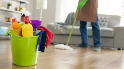 Illustration of Prevent Corona Virus from Spreading by Cleaning the House During Self-Isolation