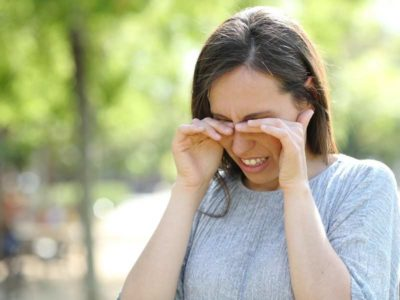 Illustration of Overcoming Eye Irritation Due To Exposure To Chemicals?