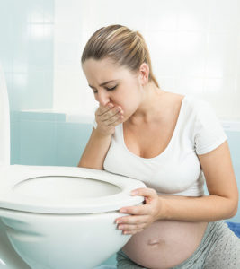 Illustration of Vomiting Accompanied By Blood Spots During Pregnancy 27 Weeks?