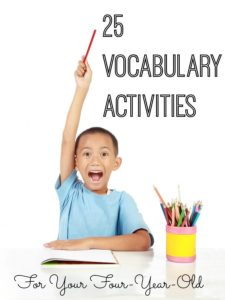 Illustration of Vocabulary Of 4 Year Olds?