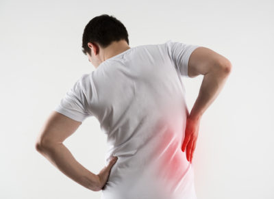 Illustration of The Cause Of Back Pain In The Back And Right Hand Is Difficult To Move?