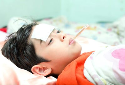 Illustration of Up And Down Fever Does Not Heal In Children Aged 10 Years?