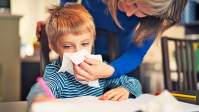 Illustration of Children Often Cough With Colds With No Appetite?