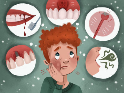 Illustration of Toothache In The Dental Implant?