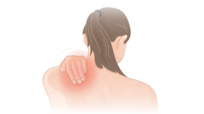 Illustration of Pain Under The Shoulder Blade On The Left Accompanied By Tightness?