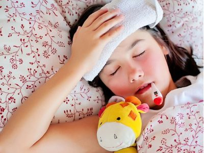 Illustration of Fever Is Accompanied By Weakness And Coughing In Children With Swollen Tonsils?