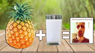 Illustration of Does Consumption Of Pineapple With Milk Together Can Cause Poison?