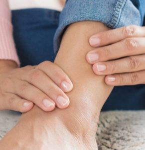 Illustration of The Ankles Feel Soft When Pressed After Being Injured Because Of A Fall?