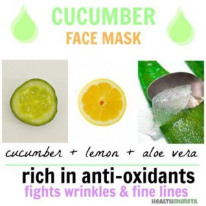 Illustration of The Use Of Cucumber Masks And Aloe Vera?