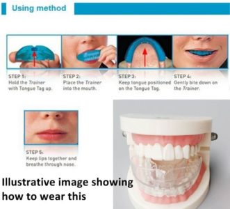 Illustration of Teeth Ache After Wearing The Teeth Trainer?