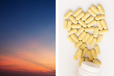 Illustration of Take 2 Types Of Supplements In The Morning And Evening?