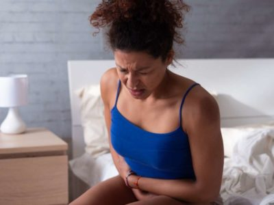 Illustration of Abdominal Pain, Bloating, Nausea, Decreased Appetite, Dizziness, Fever Up And Down, And Excessive Sweating?