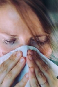 Illustration of Prolonged Colds Accompanied By A Sore Nose And Itchy Eyes?