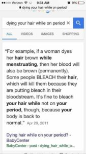 Illustration of Can You Dye Your Hair While Menstruating?