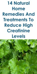 Illustration of Treatment For High Urea And Creatinine Levels?