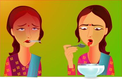 Illustration of High Fever And Mouth Taste Bitter When Eating After Hospitalization Due To DHF?