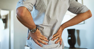 Illustration of Back Pain Such As Being Pulled And Shortness Of Breath?