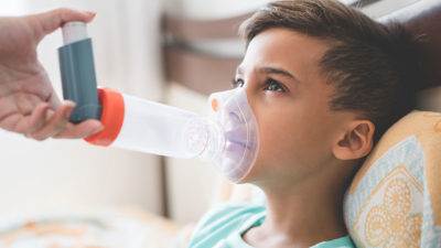 Illustration of Children 4 Years Of Age Often Cough, Is Asthma?