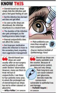 Illustration of Is It Okay To Stop Using Corticosteroid Eye Drops Or Slowly Reduce The Dose?