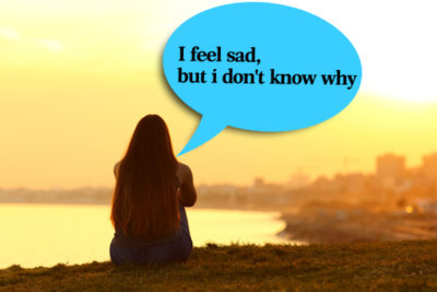 Illustration of The Cause Of Like To Be Alone And Feel Sad To Hurt Yourself?