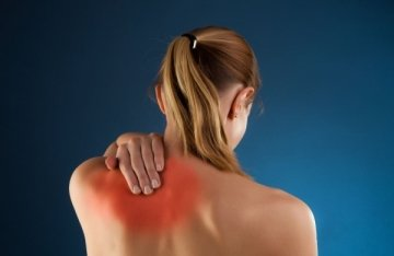 Illustration of The Shoulder Blades Hurt When Coughing?