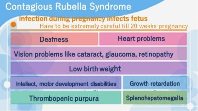 Illustration of The Characteristics Of Measles (Rubella) Transmission During Pregnancy?