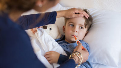Illustration of The Cause Of Children Aged 15 Months With Fever And A Rash On The Head Accompanied By Water And Pus?