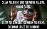 Sleep All Day After Night Work?