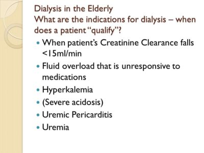 Illustration of Indications Dialysis In The Elderly?