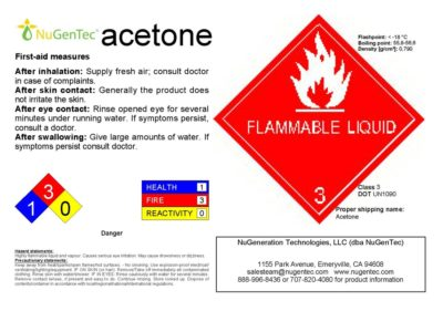 Illustration of Is A Danger If The Skin Is Exposed To Acetone?