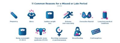 Illustration of Causes Late Menstruation After Intercourse?