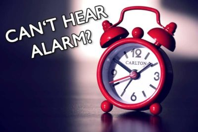 Illustration of Cause Can Not Hear The Alarm When Sleeping?