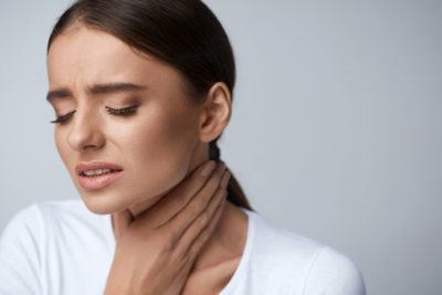 Illustration of Sore Throat Accompanied By Hot Body?