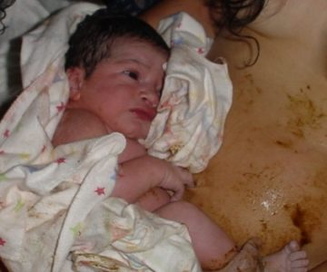 Illustration of Babies Are Born By Drinking Amniotic Fluid Mixed With Feces?