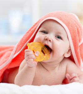 Illustration of Bite / Teether Toy For Babies Aged 4 Months?