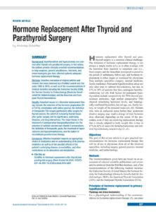Illustration of After Thyroidectomy Surgery, Should I Take Hormone Replacement Medicine?