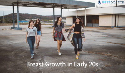 Illustration of Breast Growth At The Age Of 24 Years?