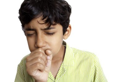 Illustration of Children Coughing Colds Accompanied By Tightness?
