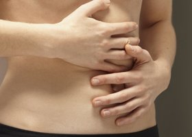Illustration of Stomach Ache Such As Arising Pain Like In A Pricking?
