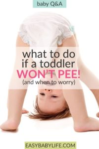 Illustration of The Cause Does Not Pee For Days In Infants?