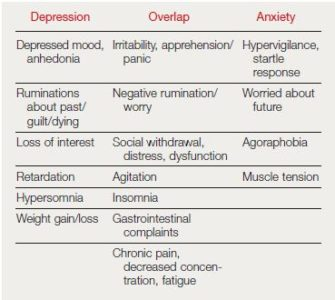 Illustration of Differences In Depression And Anxiety Disorders?